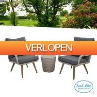 Wilpe.com - Outdoor: 3-delige SenS-Line Siena tuinset
