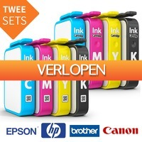 Euroknaller.nl: 2 sets huismerk inktcartridges