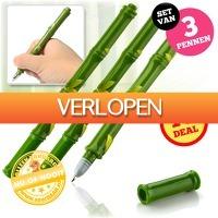 voorHAAR.nl: 3 bamboe pennen