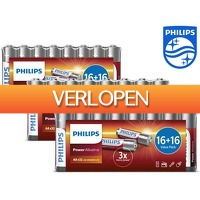 iBOOD.com: 96 x Philips Power Alkaline batterijen
