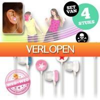 voorHAAR.nl: Set van 4 fashion earphones