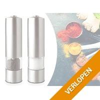 Elektrische pepermolen en zoutmolen