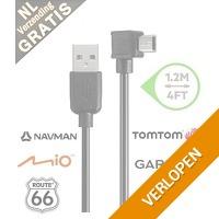 Mini USB navigatie kabel haaks