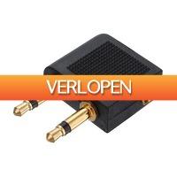 Dennisdeal.com: 2 x 3.5mm Airplane Travel hoofdtelefoon adapter