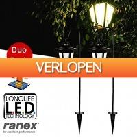 Pricestunter.nl: 2-pack Ranex Solar LED lampen