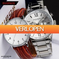 Watch2day.nl: Akribos XXIV  AK884SS duo-pack