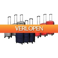 Groupon 2: Set van 3 stevige trolleys van ABS