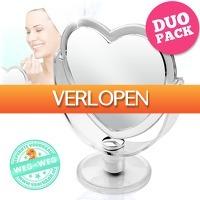 voorHAAR.nl: 2 kantelbare spiegels in hartvorm