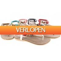 Dailygrabdeals.com: Mrch label slippers met strass steentjes