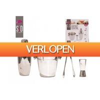 Pricestunter.nl: Luxe 4-delige RVS cocktailset