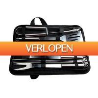 ClickToBuy.nl: 10-delige RVS BBQ toolset