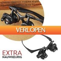 Slimmedealtjes.nl: Reparatiebril met LED-lampjes