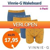 1dagactie.nl: 4-pack Vinnie-G Wakeboard Blue boxershorts