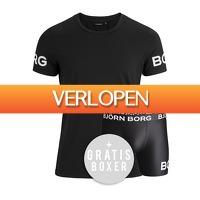 Plutosport offer: Bjorn Borg Sports Tee + boxershorts set
