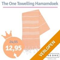 The One Towelling Hamamdoek oranje/wit