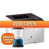 Centralpoint: HP Laserprinter CLP-680ND + gratis camping lamp