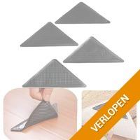 4 anti-slip hoekjes voor vloerkleed