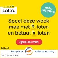 5 Lotto loten voor de prijs van 4!