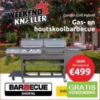 Garden Grill Hybrid gas- en houtskoolbarbecue
