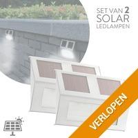 2 x solar LED-buitenlampen