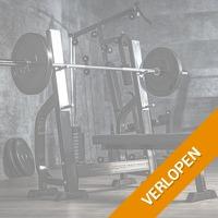 Vlakke halterbank met 100 kg halterset