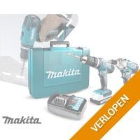 Makita boormachine & schroeftol met accu's en oplader