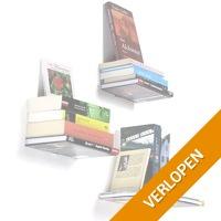 Zwevende verborgen boekenplanken
