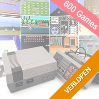 Klassieke game console met NES games