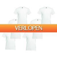 Brandeal.nl Classic: Fruit of the Loom T-shirt met V-hals