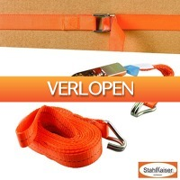 Wilpe.com - Outdoor: Stahlkaiser spanband met ratel (6 meter)