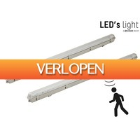 iBOOD DIY: 2x waterdicht LED-armatuur met bewegingssensor