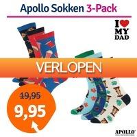 1dagactie.nl: 3-pack Apollo Computer sokken