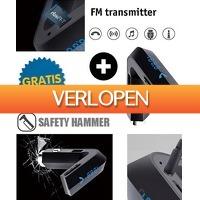 Mob-Com: Bluetooth FM transmitter en veiligheidshamer