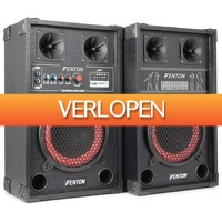 MaxiAxi.com: Fenton SPB-8 actieve PA speakerset