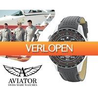 1DayFly Lifestyle: Aviator RVS herenhorloge 10ATM