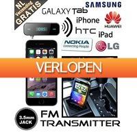 Mob-Com: Universele 3.5mm jack FM transmitter