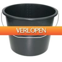 Grotekadoshop.nl: Emmer 12 L met stalen hengsel zwart (set van 2)