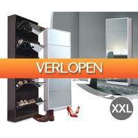 Voordeelvanger.nl: Grote schoenenkast met spiegel