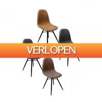Koopjedeal.nl 2: Stijlvolle industriele eetkamer kuipstoelen