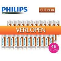Dealwizard.nl: 48 x Philips LongLife batterijen
