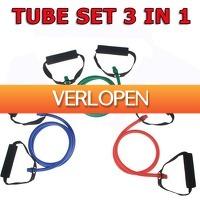 Betersport.nl: Resistance Tube - Focus Fitness - 3 in 1 SET