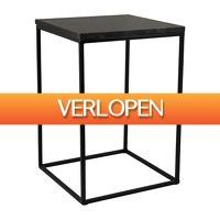 Xenos.nl: Bijzettafel marmer zwart - 30 x 30 cm