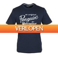 Suitableshop: Original Penguin T-shirt Logo Navy