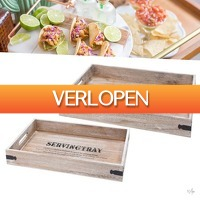 Wilpe.com - Home & Living: ServingTray 2-delig houten dienblad