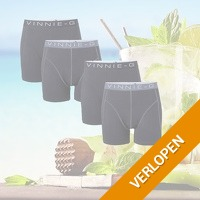 4-pack Vinnie-G boxershorts Black