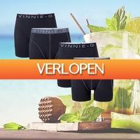 Kiesjekoopje.nl: 4-pack Vinnie-G boxershorts Black