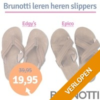 Leren Brunotti heren slippers