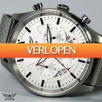 Watch2day.nl: AVW1603G342  Aviator Pilot Chrono Watch
