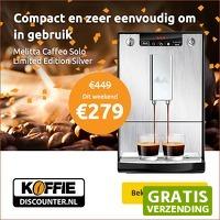 Koffiediscounter.nl: Melitta Caffeo Solo Limited Edition Silver