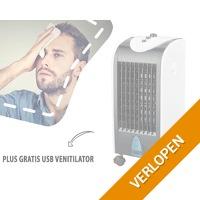 Aircooler met gratis USB ventilator